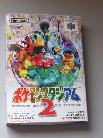 Pokemon Pocket Monsters Stadium 2 Original Jap Nintendo 64