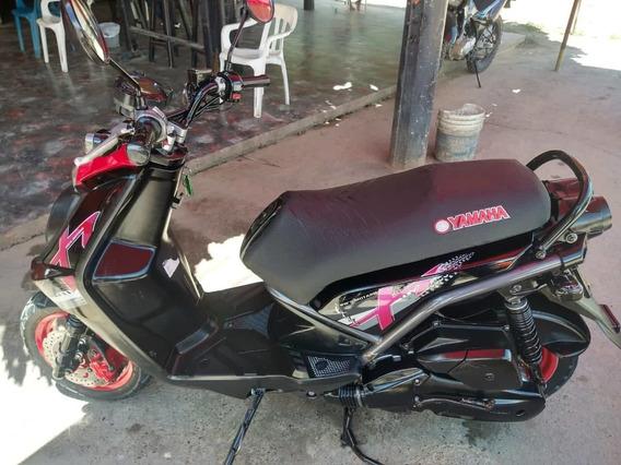 Yamaha Bws 125 Digital Color Negro Con Rojo