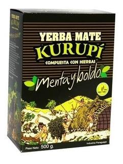 Yerba Mate Paraguaya Kurupí Menta Y Boldo