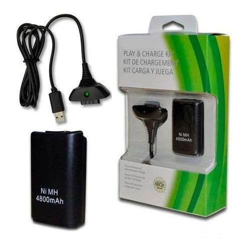 Kit De Carga Cable + Bateria  Para Joistick Control Xbox360