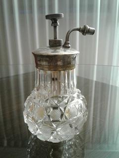 Perfumero Cristal Y Plata