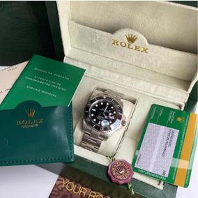 Rolex Preto Submariner Com Caixa E Documentos