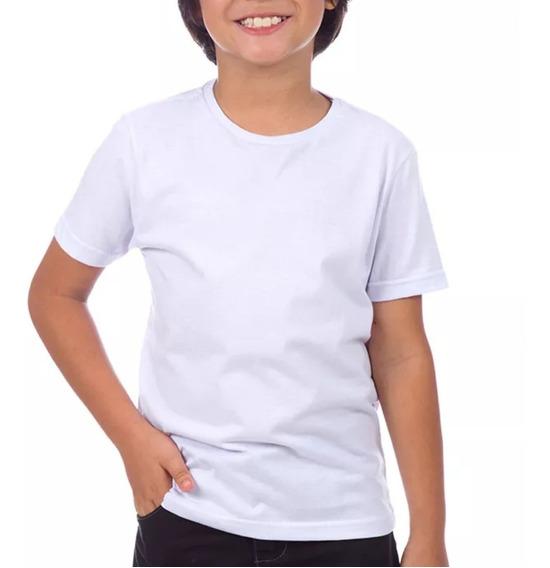 30 Camisas Camisetas Blusas Infantil 100% Poliestr Branc
