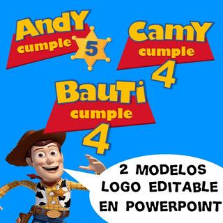 Logo Editable Toy Story Cumpleaños