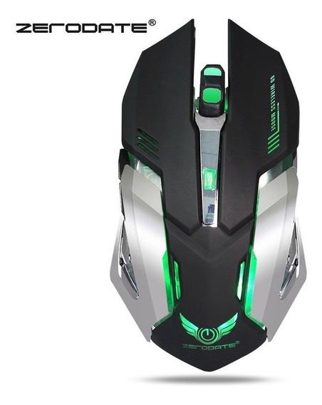 Mouse Gamer Sem Fio 6 Botoes 2400dpi Bateria Recarregavel