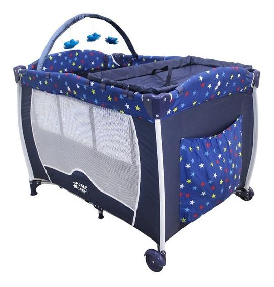 Berço Cercado Desmontável C/ Regulagem -trocador Móbile Felice Star Baby