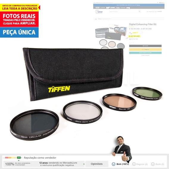 Kit 4 Filtro 58mm Tiffen Polarizador Uc 812 En 12x S/juros