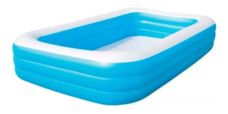 Pileta Inflable Rectangular Azul 54009 Bestway 305x183x56