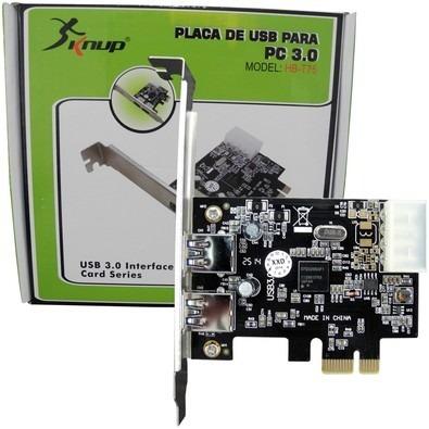 Placa Usb 3.0 Pci-express Com 2 Portas Modelo Hb-t75 Knup