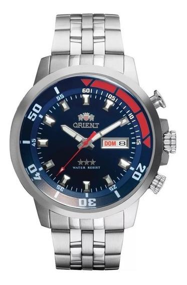 Relógio Orient Masculino Automático 469ss058 D1sx Azul