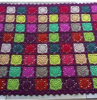 Pie De Cama A Crochet