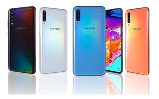 Samsung Galaxy A70 + Vidrio + Forro (339dls) 6gb 128gb