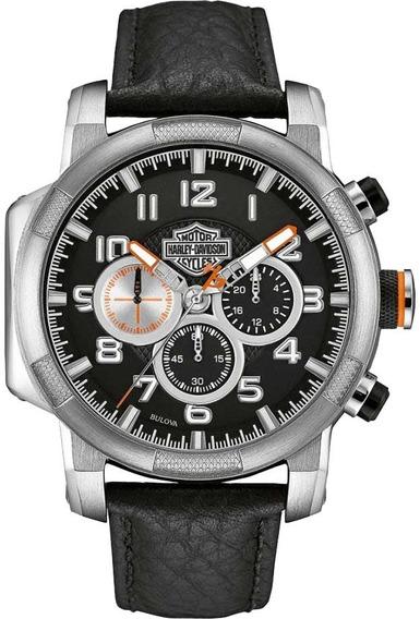 Relógio Bulova Masculino Harley Davidson Cronógrafo Wh30555t