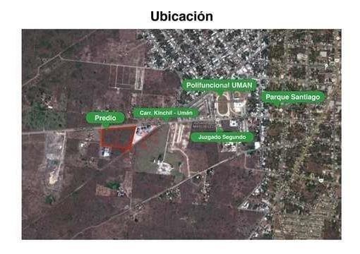 Terreno En Uman Kinchil Puede Ser Utilizado Para Fines Comerciales, Industriales O Habitacional