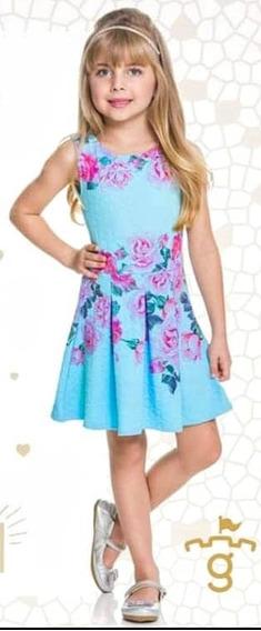 Vestido Feminino Infantil -014495
