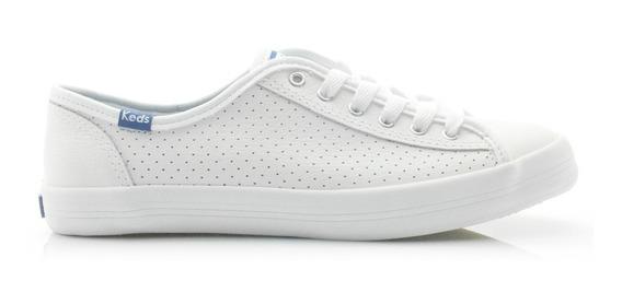 Tênis Keds Kickstart Perf Leather Branco/marinho Kd810921
