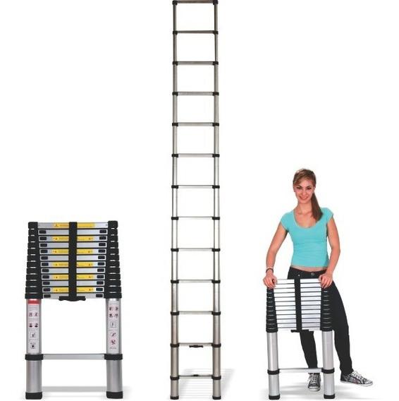 Escalera Telescópica De Aluminio De 3.8 Metros