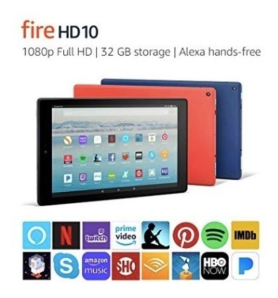 Tablet Amazon Fire Hd 10 1080p 32gb Preto