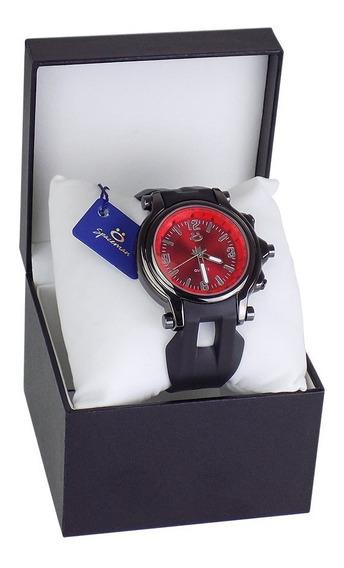 Relógio Masculino Original De Borracha Lindo Na Promoção