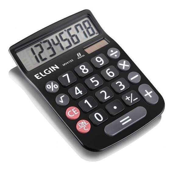 Calculadora De Mesa 8 Digitos Preta Mv-4133 Elgin 23877