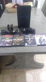 Playstation 2 Com 4 Jogos + 1 Controle