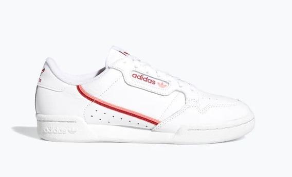 Zapatillas adidas Continental 80 Blancas -roj De Mujer