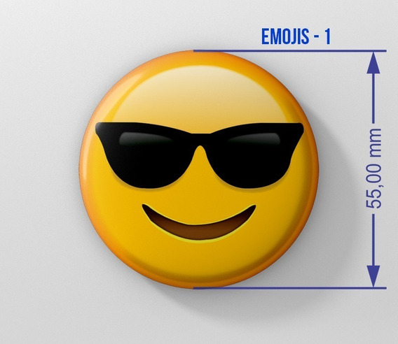 Pins Emojis Personalizados 55mm. X 50