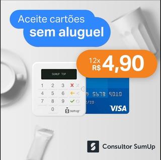 Maquina De Cartão Sumup Top- Pronta Entrega.capinha Brinde.