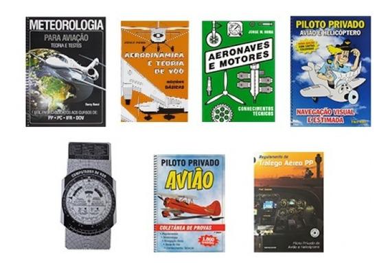 Kit De Livro Piloto Privado Aeroclube De São Paulo (prata)