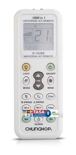 Control Remoto Universal Lcd Aires Acondicionados K-1028e