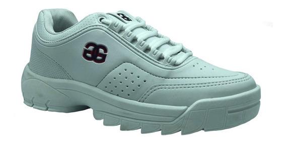 Tenis Masculino Logus Branco 19950 Casual