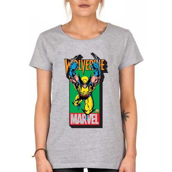 Remera De Mujer Wolverine Guepardo Marvel Mod2