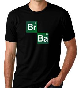 Camiseta Preta Breaking Bad Série Heisenberg White Break 1