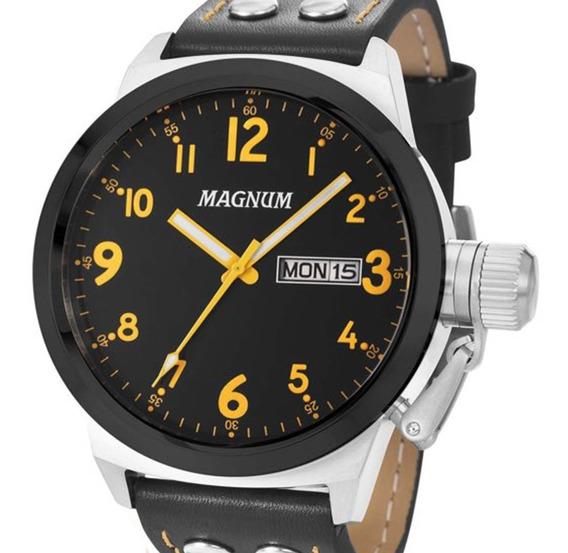 Relógio Magnum Masculino Ma32774j Calendário + Nf