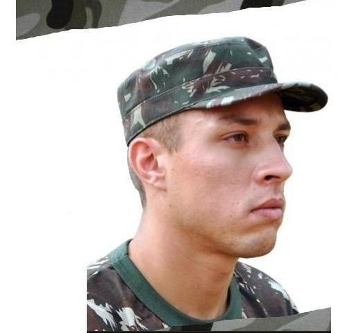 Gorro Padrão Pala Dura Exército Brasileiro Produzido Em Tec