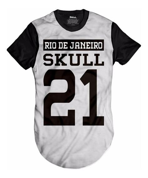 Camisa Camiseta Rio De Janeiro 21 Favela Rj Skull Swag Top