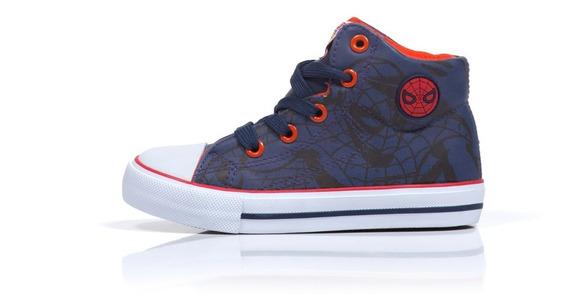 Zapatillas Botitas Atomik Marvel Niños Vulcanizado Spiderman