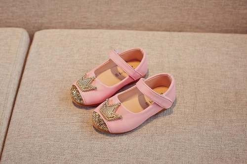 Sapato Infantil Festa Menina Aniversário Princesa Coroa Luxo