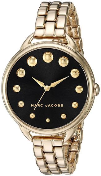 Marc Jacobs Reloj Original Nuevo Dama Dorado Acero Mj3494