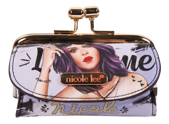 Monedero Kisslock Nicole Lee Con Bolsillos Laterales Ss20