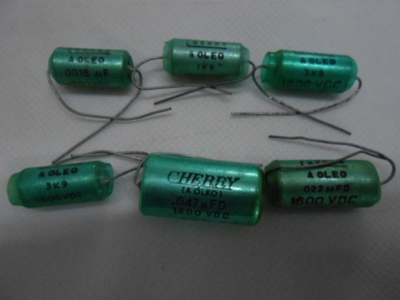 Capacitor A Óleo Varios Valores Pacote Com 10 Peças