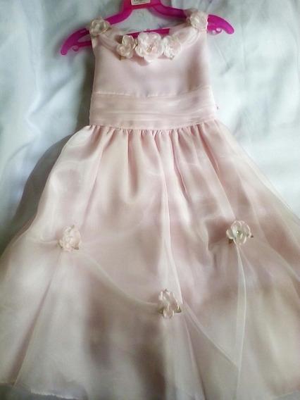 Vestido Presentación Con Flores Niña