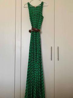 Vestido Michael Kors Largo Verde Una Puesta