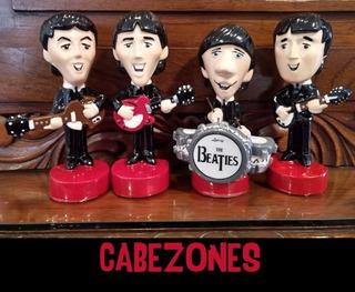 Figuras The Beatles Cabezones Pasta Cerámica Originales