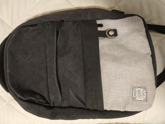 Mochila Zb 200 Gris Negro Notebook 15.6