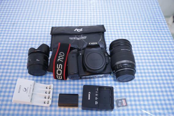 Canon Eos 70d + Lente 18-200 +brindes