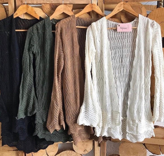 Cardigãn Casaquinho Blusa Tricot Feminino Lã