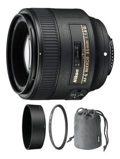 Nikon Af-s Nikkor 85mm F/1.8g Nuevo 2019 + Parasol + Envio
