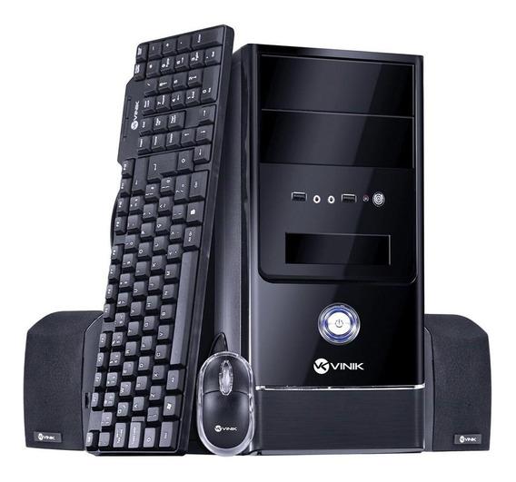 Kit Pc Cibox - Gabinete Completo+teclado+mouse+caixa De Som