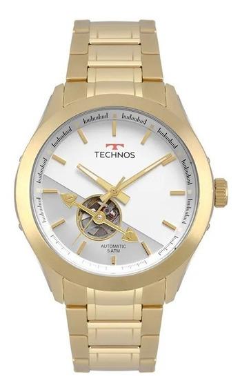 Relógio Technos Masculino Dourado Automático 82soad/4b